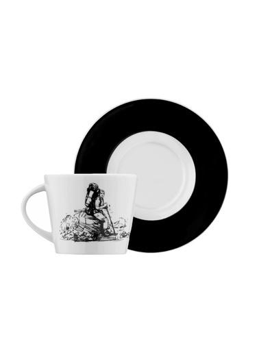 Kütahya Porselen Centilmen Serisi Kahve Fincan Takımıdağcı Renkli